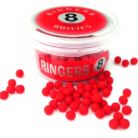 Boilies Red   Shellfish afondanti 8 mm RINGERS - 100 gr