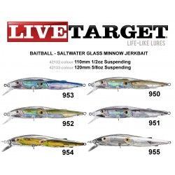 ARTIFICIAL LIVE TARGET GLASS MINNOW JERKBAIT 120