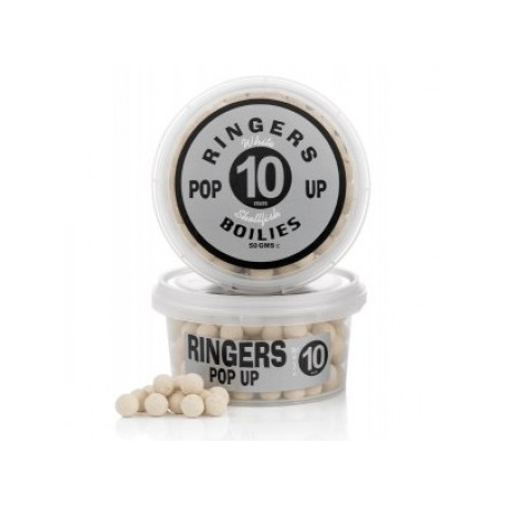 BOILIES WHITE SHELLFISH POP-UP 10 MM RINGERS BAITS - 60 GR